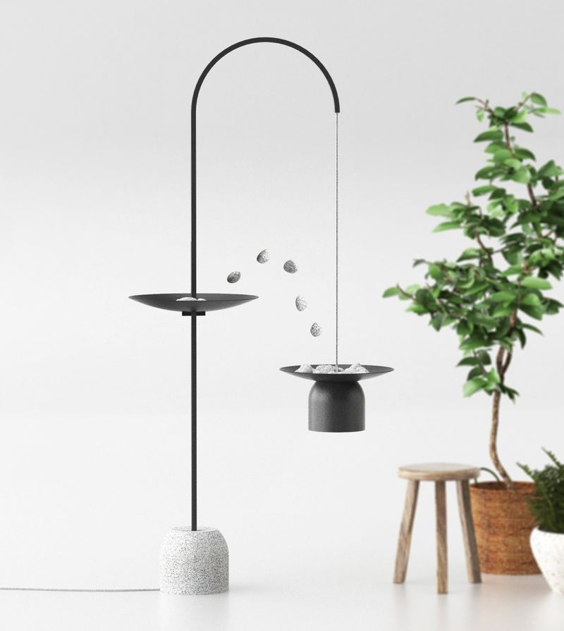 Adjustable Stone-Integrated Lamps