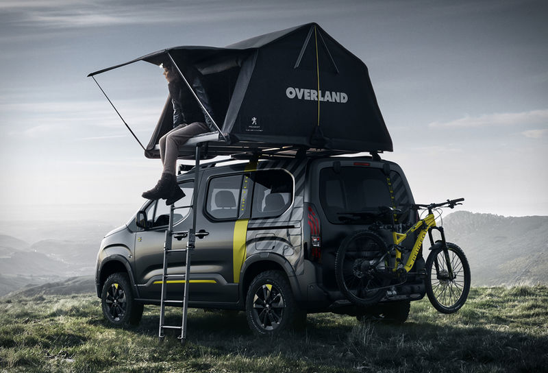 off road camping vehicles peugeot rifter 4x4. Black Bedroom Furniture Sets. Home Design Ideas