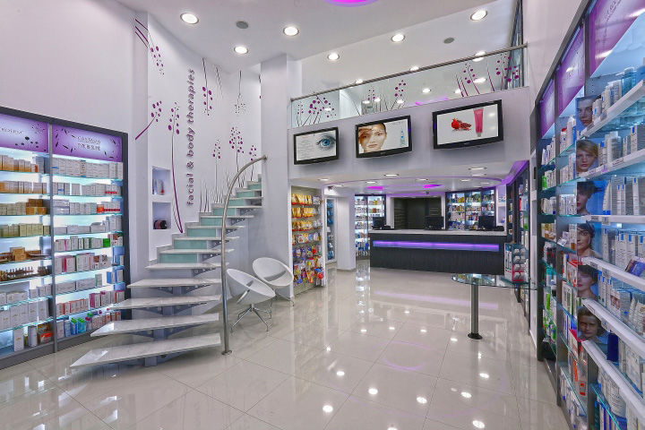 Futuristic Pharmacy Interiors : pharmacy design