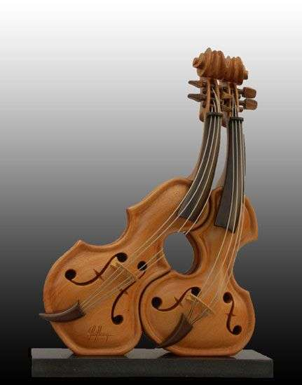 Anamorphic Violin Sculptures