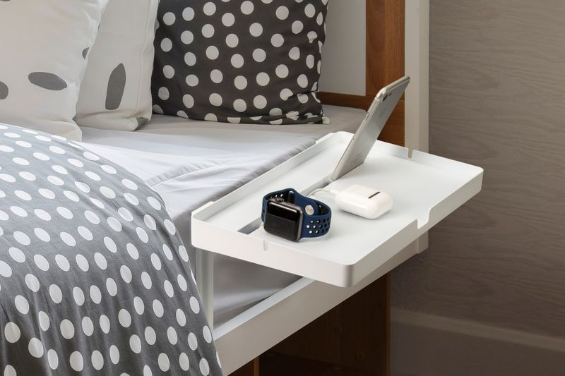 Bed-Affixed Smartphone Docks