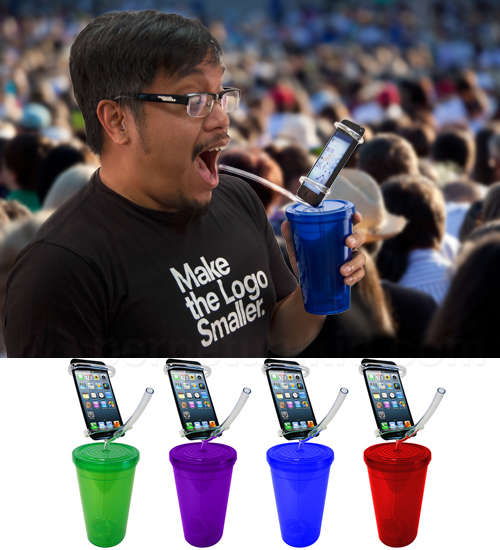 Smartphone-Displaying Cups