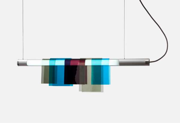 Color-Slung Suspended Lights