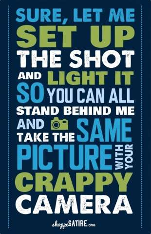 Sarcastic Photographer Comeback Posters
