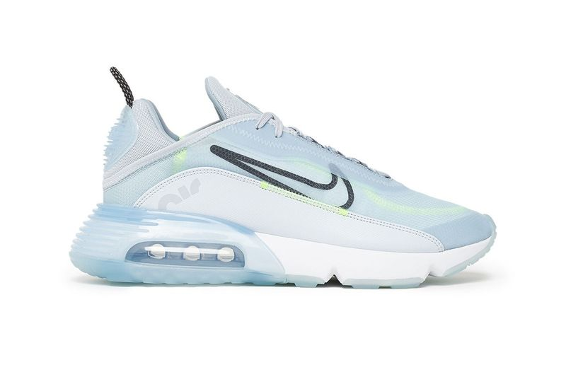 Futuristic Icy Blue Sneakers