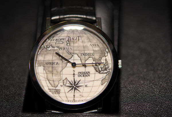 Intricate Map-Infused Watches