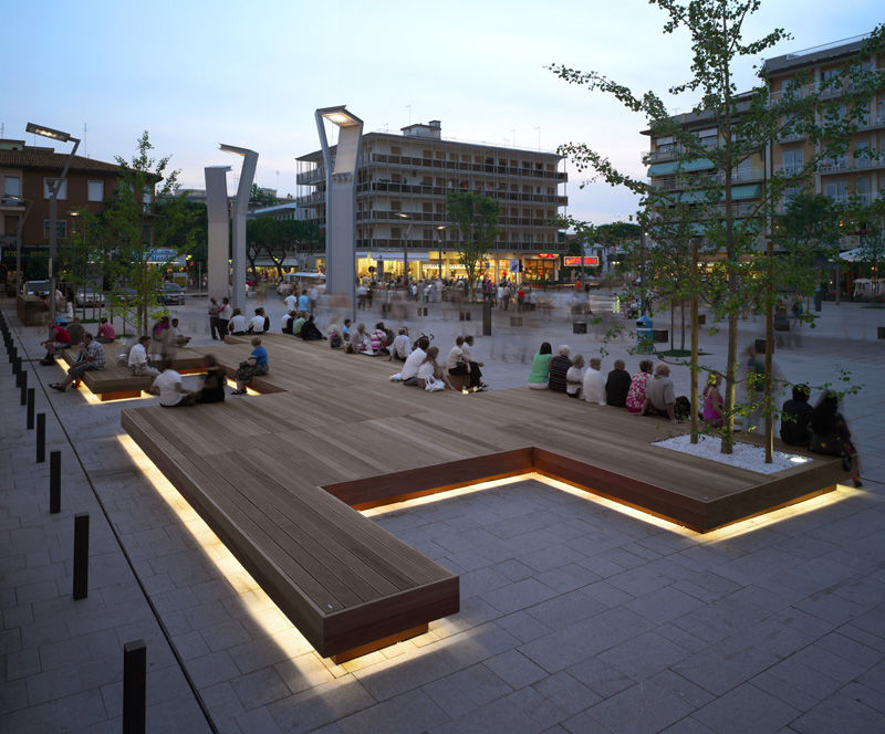Illuminated Public Benches