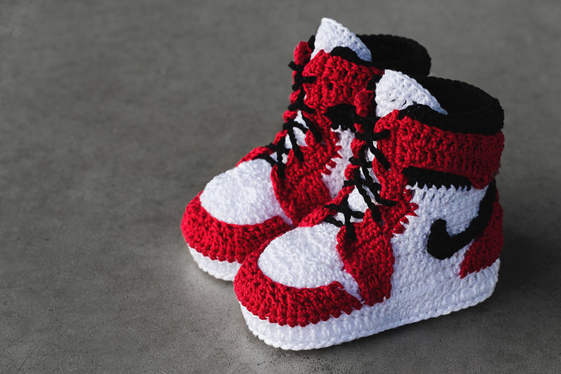 Crocheted Baby Sneakers
