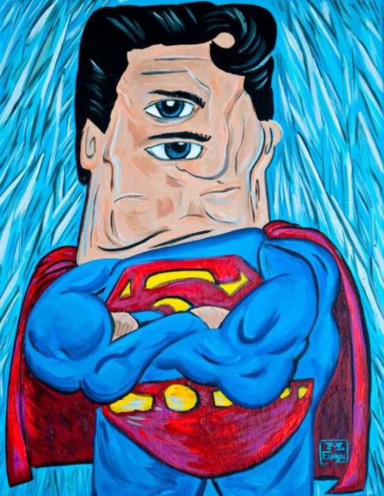 Picasso-Style Superhero Portraits