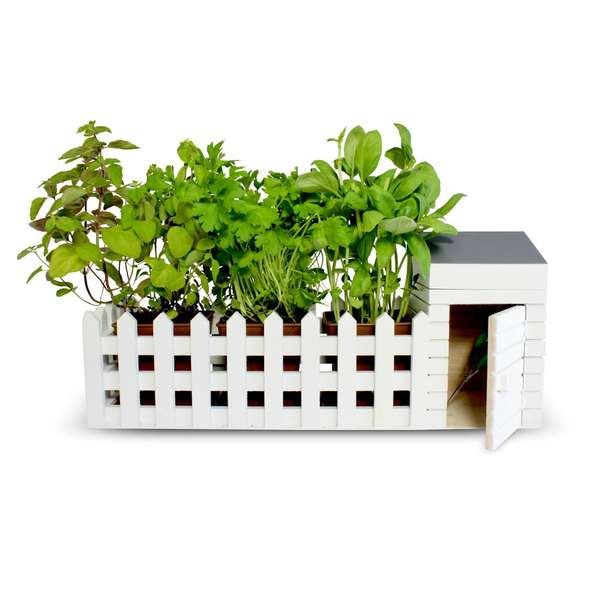 Miniature Picket Fence Planters