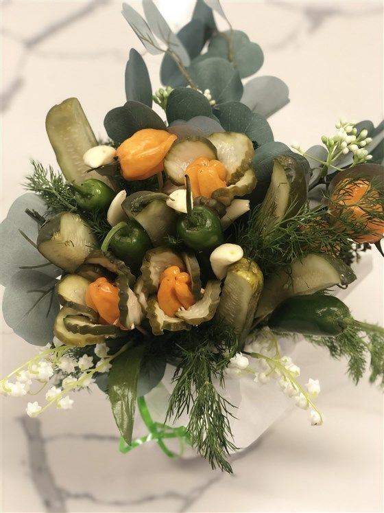 Tangy Pickle Bouquets