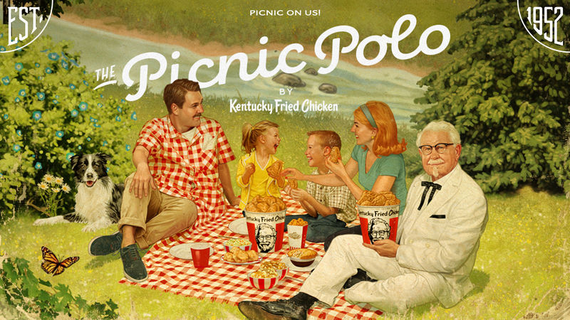 Wearable Picnic Blankets - KFC's 'Picnic Polo' Instantly Helps to Set Up a Picnic Anywhere (TrendHunter.com)