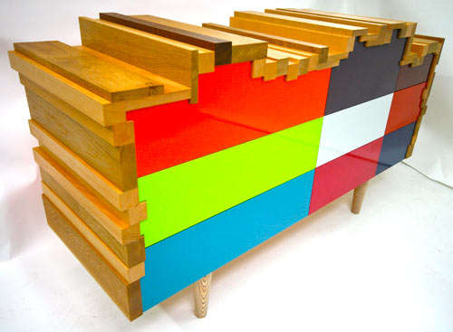 Colorful Scrappy Cabinets