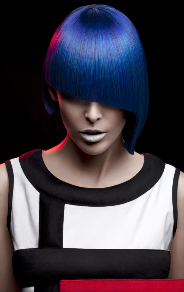 Primary Colored Bob Cuts