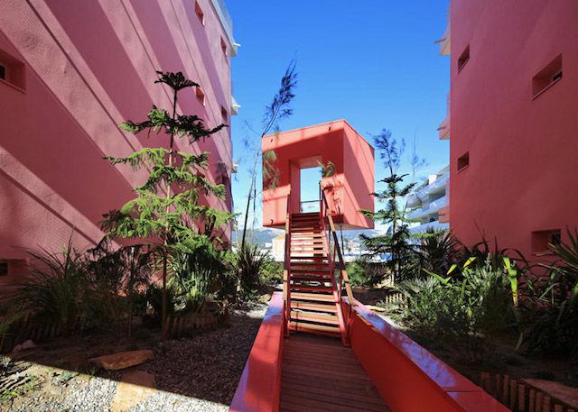 Modernist Pink Residences