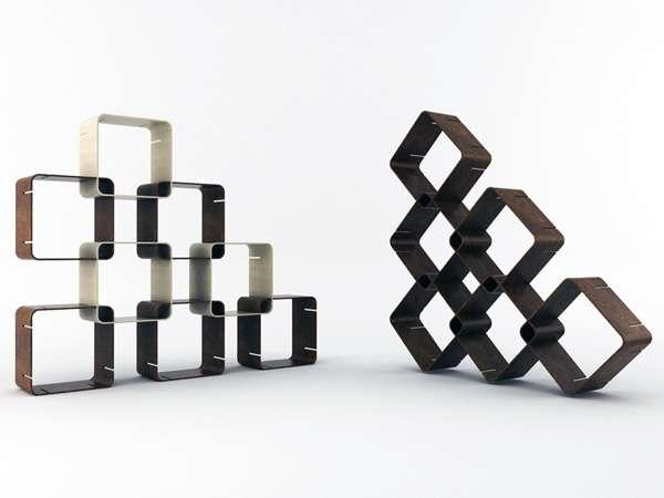 Modular Square Shelving