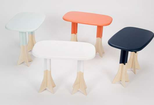 Animalistic Two-Footed Tables
