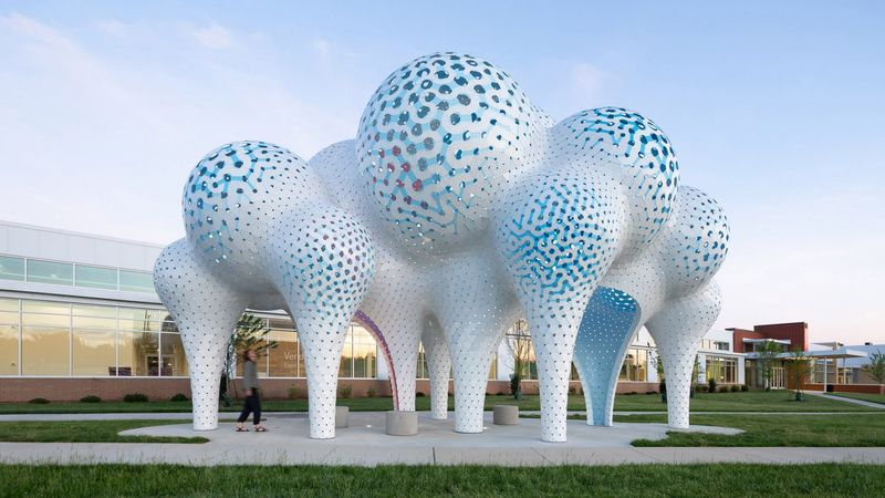 Ethereally Bubbly Pavilion Sculptures