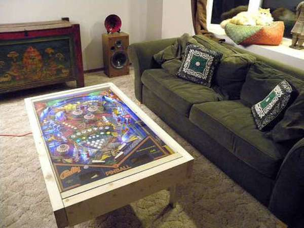 Arcade Furniture Creations pinball coffee table