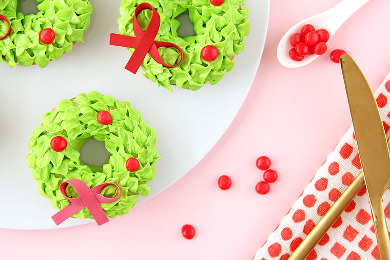 Holiday Wreath Donuts