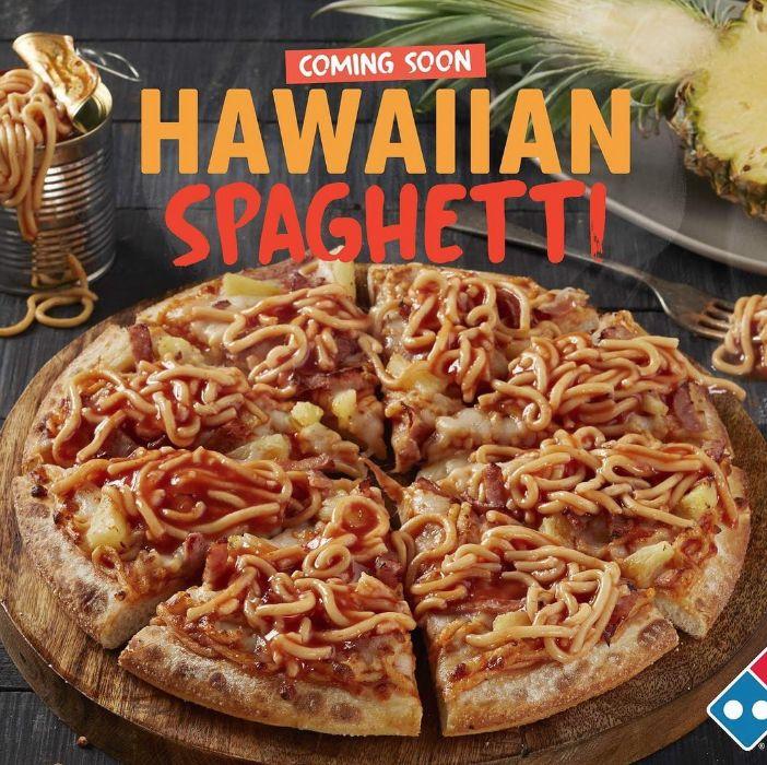Spaghetti-Topped Hawaiian Pizzas