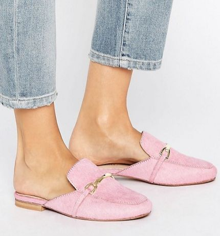 Millenial Pink Loafer Mules