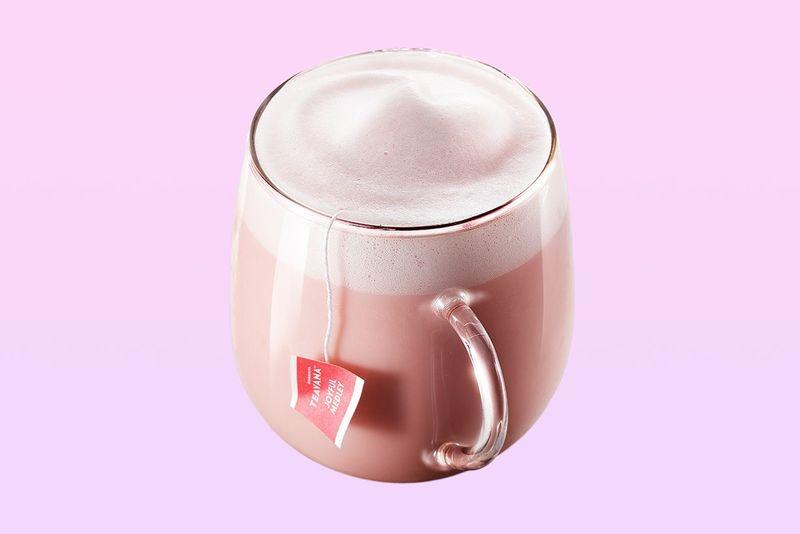 Pastel Pink Tea Lattes