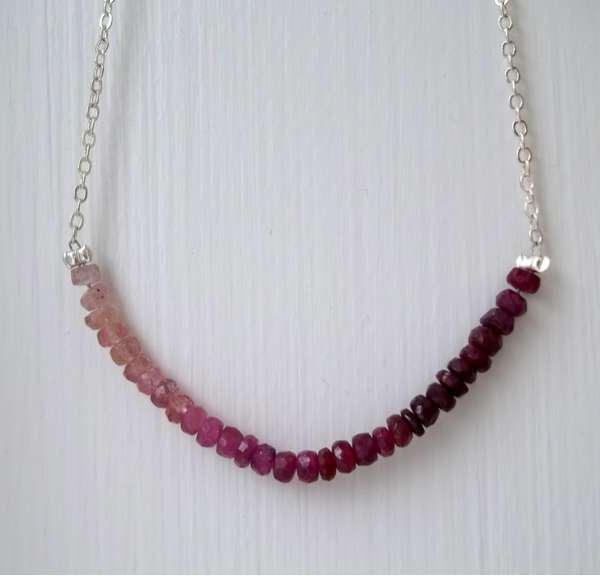 Gradient Gemstone Necklaces