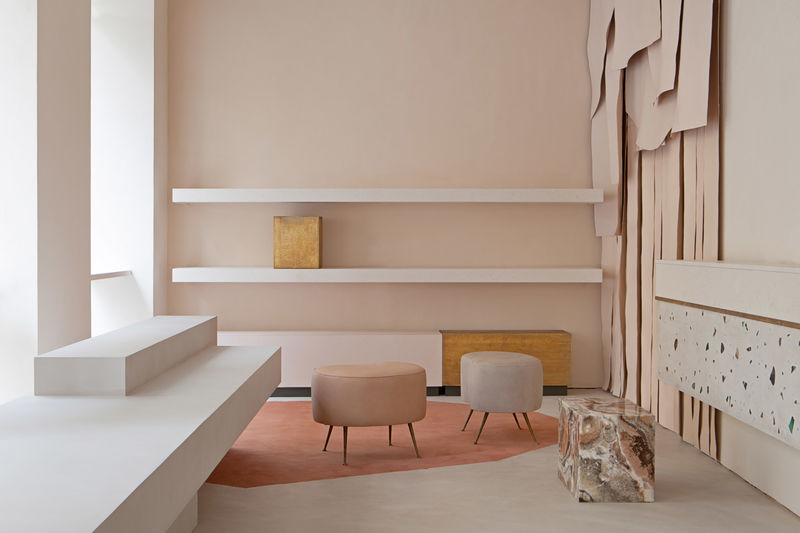Atmospheric Pink Store Interiors