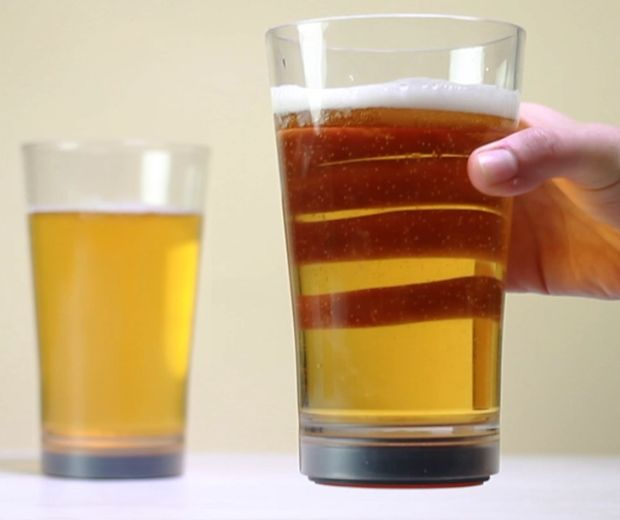 Spill-Proof Pint Glasses