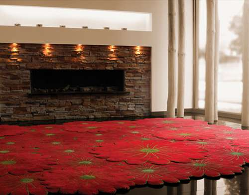 Multi-Layered Floral Rugs