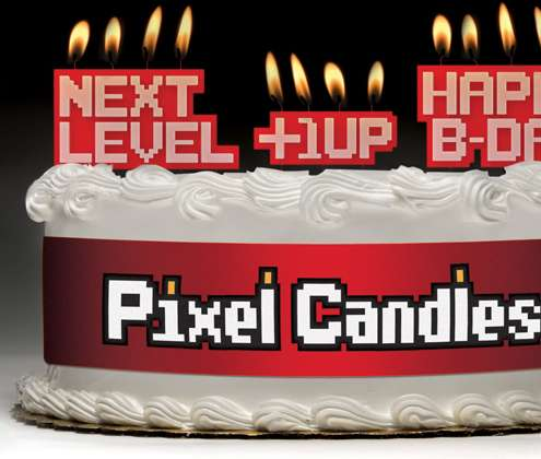 Cool 8 Bit Cake Decorations Pixel Candles Funny Birthday Cards Online Alyptdamsfinfo