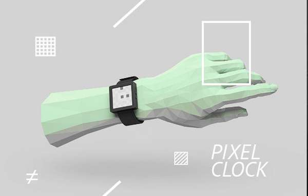 Retro Pixelated Timepieces