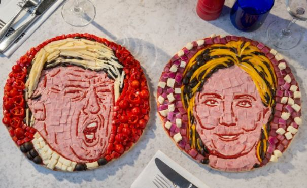 Political Pizza Art