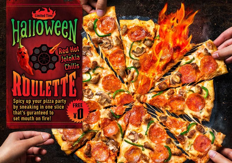 Spicy Roulette Pizzas