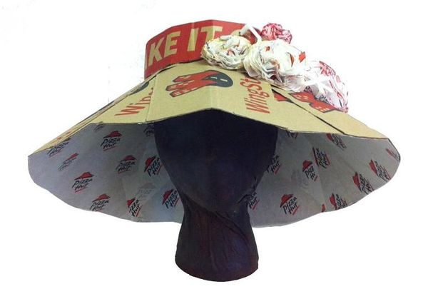 Pizza Box Derby Hats