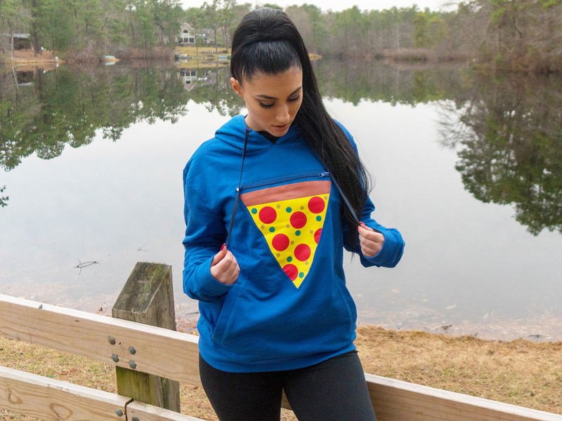Food-Warming Pizza Hoodies