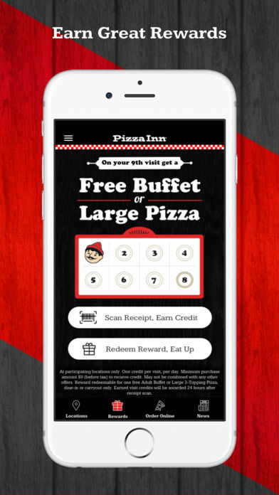 Virtual Pizza Punchcards