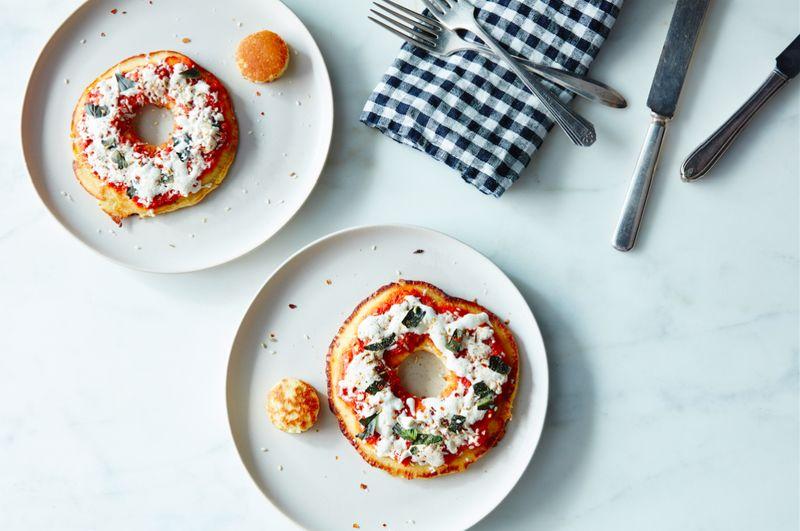 Savory Pizza Pancake Bagels