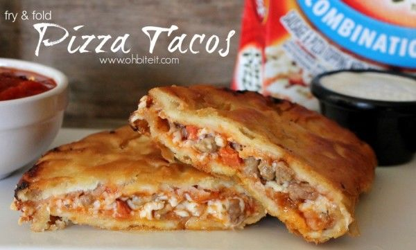 Fried Pizza Tacos