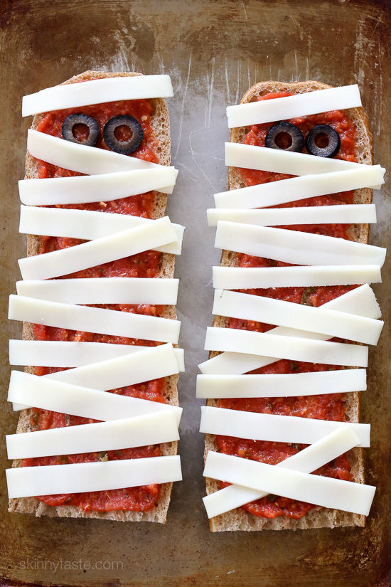 Mummified Pizza Toasts