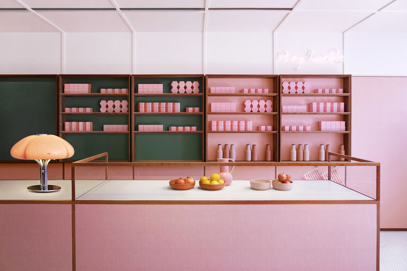Soft Pink Pizzeria Interiors