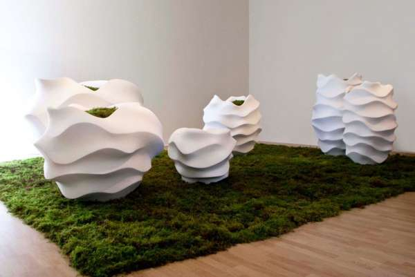 Undulating Sculptural Planters