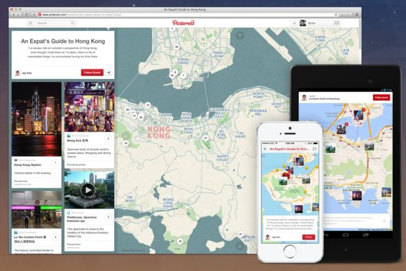Social Pinboard Maps