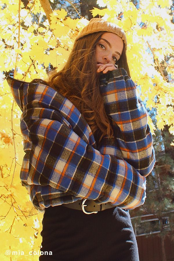 Vintage-Inspired Plaid Puffers
