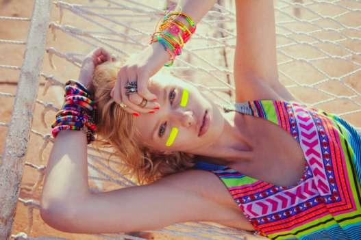 Neon Poolside Lookbooks