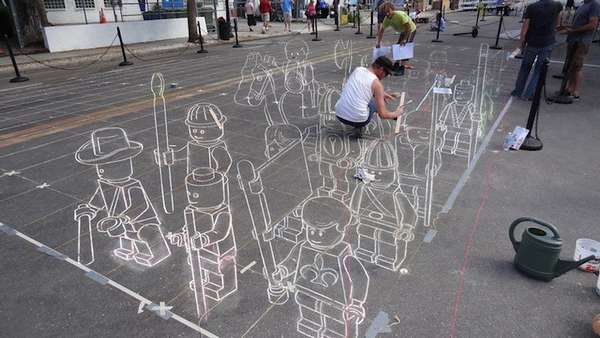 3D Chalk-Block Battles
