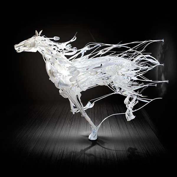 Enthralling Plastic Sculptures