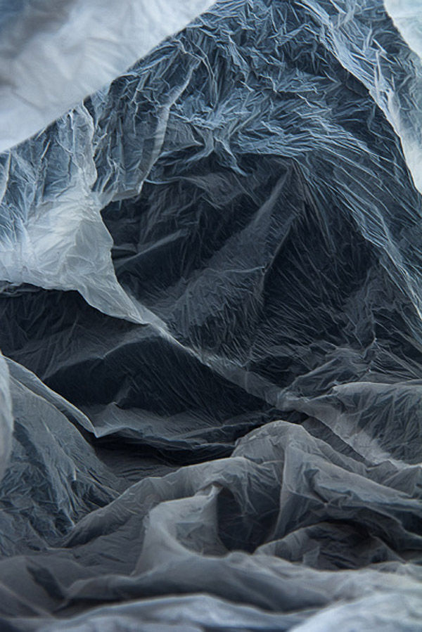 Plastic Bag Landscape Art