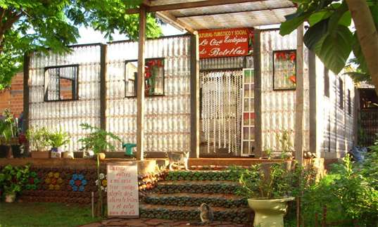 Recycled Bottle Abodes